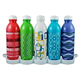 Reduce WaterWeek Water Bottles, 16oz Classic Style – Includes 5 Refillable Water Bottles Plus Bonus Fridge Tray For Your Water Bottle Set – BPA Free, Leak-Proof Cap – Reduce Your Plastic Use