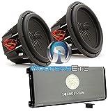 pkg Soundstream T1.6000DL Monoblock Amplifier + Pair of T5.152 15' Dual 2-Ohm Subwoofers