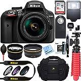Nikon D3400 24.2 MP DSLR Camera + AF-P DX 18-55mm VR NIKKOR Lens Kit (Black) 32GB SDXC Memory + SLR...