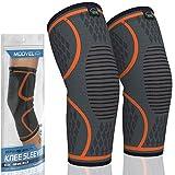 MODVEL 2 Pack Knee Brace | Knee Compression Sleeve for Men & Women | Knee Support for Running |...