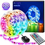 Led Strip Lights 32.8FT/10M, Color Changing Light Strip with 44-Keys Remote, 600LEDs Bright RGB LED Lights, DIY Color Options Tape Lights, Power Supply Led Lights for Bedroom Home Kitchen Decoration…