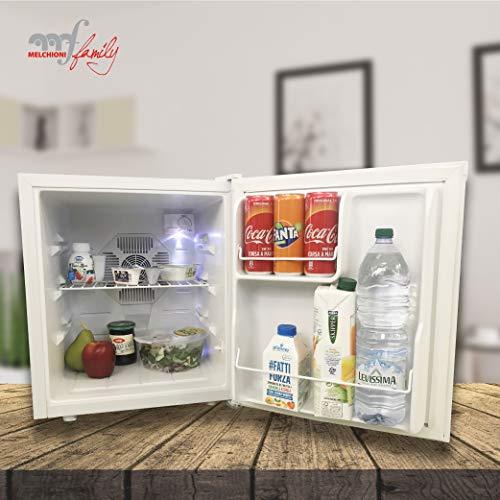 Melchioni BARETTO NEW Mini frigo bar , Silenzioso 30 dB, 50L, Frigorifero piccolo portatile da camera, ufficio, B&B,...