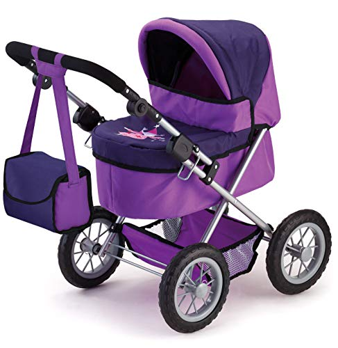 Bayer Design 1301200 Puppenwagen Trendy, höhenverstellbar, zusammenklappbar, Motiv: Fee, lila