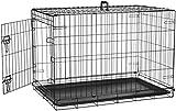 AmazonBasics Cage pliante en métal avec 1porte pour chien - 91 cm