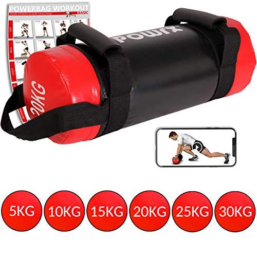 POWRX Sandbag 5-30 kg - Ideal para Entrenamiento Funcional - Power Bag...
