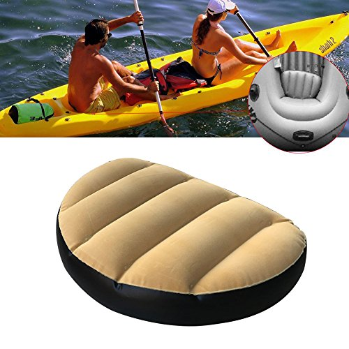 Pack of 2 Inflatable Boat Seat, PVC+ Velvet Boat Seat...