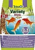 TETRA Pond Variety Sticks - Aliment Complet en sticks pour Poisson de Bassin - 25L