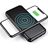 CHOETECH Wireless Power Bank Qi Portable Charger for iPhone 12 Pro Max 10000mAh External Battery QC 3.0 18W USB C PD Fast Charger for iPhone 11 XR Xs SE 8 AirPods Samsung S21 S20 Note 20 10 9 A72 A71