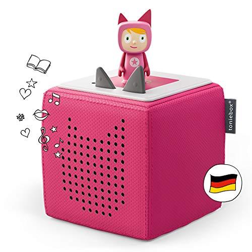 Toniebox Starterset in Pink: Toniebox + Kreativ-Tonie - Der Tragebare Lautsprecher für Tonies Hörfiguren und Kreativ Tonies - Für Kinder ab 3 Jahren - DEUTSCH