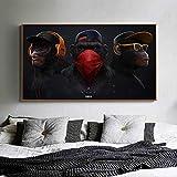 wZUN Póster Pintura Familiar Mural Lienzo impresión Animal Imagen Sabio botín chimpancé para Sala de Estar decoración del hogar 50x85 cm