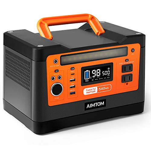 AIMTOM 540Wh Portable Power Station, Lithium Battery Pack with...