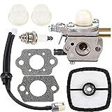 Leopop C1U-K51 Carburetor for Zama Echo HC-1600 HC-1800 HC-2000 HC-2400 HC-2410 String Trimmer with Air Filter Primer Bulb Spark Plug Fuel Line Kit