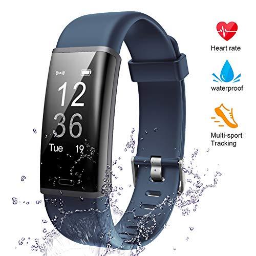 Lintelek Fitness Armband Fitness Tracker mit Pulsmesser Fitness Uhr Schlaf Monitor Schrittzähler Aktivitätstracker Pulsuhren Smart Armbanduhr IP67 wasserdicht Kalorienzähler