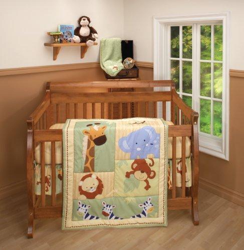 Nojo 3 Piece Comforter Set, Safari Kids