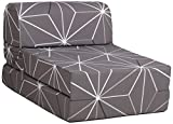 CANAPES TISSUS Enjoy 1 Chauffeuse Canapé-Lit, Polyester, Gris, 60 x 78 x...