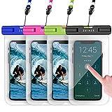 ZEINZE 4 Pack Waterproof Phone Case Universal Waterproof Phone Pouch...