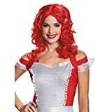 Disguise Women's Strawberry Shortcake Deluxe Adult Costume Wig, Pink, One Size