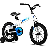 JOYSTAR 14 Inch Kids Bike with Training Wheels for Ages 3 4 5 Years Old Boys and Girls, Toddler Bike with Handbrake for Early Rider, White