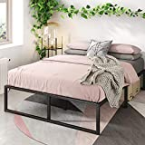 Zinus Lorelai 14 Inch Metal Platform Bed Frame / Steel Slat Support / No Box Spring Needed / Underbed Storage Space / Easy Assembly, Queen