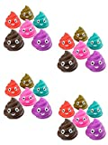 Novelty Treasures NT4278 Set of 24 Colorful Emoji Poop Squirts Bathtub Toys and Party Supplies
