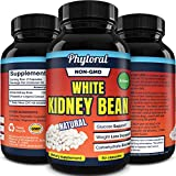 White Kidney Bean Supplement Pills Pure Extract Starch Carb Blocker Weight Loss Formula - Lose Belly Fat Suppress Appetite Boost Metabolism Natural Weight Loss for Men and Women by Phytoral