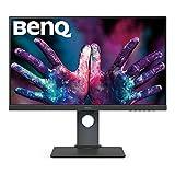 BenQ PD2700U - Monitor Profesional para Diseadores de 27' 4K UHD (3840x2160, IPS, 100%Rec.709/SRGB, 10 Bits, CAD/CAM, HDMI, DP, DP Out, USB 3.1 x4, Altura ajustable, antireflejo) - Gris