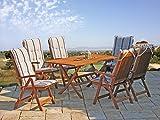 GRASEKAMP Qualität seit 1972 Gartentisch Klapptisch Rio Grande 160x90cm Eukalyptus Gartenmöbel Holztisch - 3