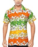 CLUB CUBANA Chemise Hawaiienne Classique, Étroite, Florale, Décontractée À Manches Courtes pour Hommes XXXL
