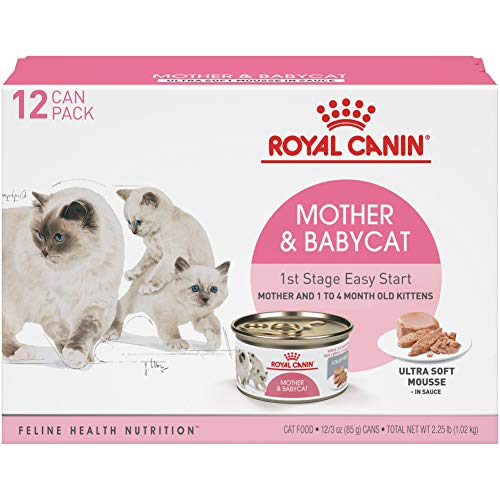 Royal-Canin-Mother-Babycat-Ultra-Soft-Mousse-in-Sauce-Wet-Cat-Food-for-New-Kittens-and-Nursing-or-Pregnant-Mother-Cats-3-Ounce-Can-Pack-of-12