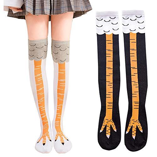 Novedad Calcetines Calcetines de pierna de pollo, 2 pares de