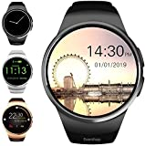 Evershop Smart Watches Bluetooth Touch Screen Watch Multi-Function Sports Fitness Trackers with Sleep Heart Rate Monitor Pedometer SIM Card and TF Card Slot for Android iOS Phone (Black)