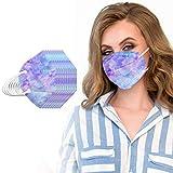 JJsmile 10-100 Stück Einweg,5lagige_Mund-Nasen-Schutz,Farbig Bunt,Nicht Gewebt,Zertifiziert,Atmungsaktiv Multifunktionstuch Halstuch Bandana für Damen Herren