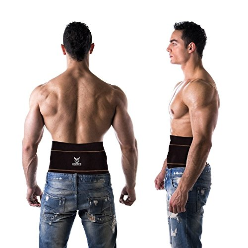 Copper Compression Gear Premium Fit Back Brace Lower Lumbar Support Belt. Adjustable for Men and Women. COMFORTABLE Copper Infused Back Wrap Perfect for Working or Playing Sports (Waist 28' - 38')