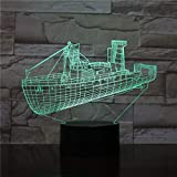 3D Table Lamp Unique The Ship Destroyer Best Decoration Office Fast Delivery Color Led Night Light Table Lamp