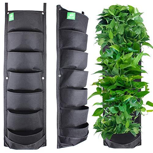 MEIWO Nuovo aggiornato 7 Pianta Appendiabiti Verticali per pareti da Giardino Giardino per Giardino Decorazione Giardino