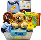 Sweet New Baby Gift Basket - Baby Boy & Baby Girl (Blue)