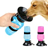Simxen Dog Water Bowl Bottle Sipper Portable Aqua Dog Travel Water Bottle Bowl 18-oz Dog Bottle Auto Dog Mug for Pets