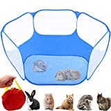 GABraden Small AnimalsTent,Reptiles Cage,Breathable Transparent Pet Playpen Pop Open Outdoor/Indoor Exercise Fence,Portable Yard Fence for Guinea Pig,Rabbits, Hamster,Chinchillas and Hedgehogs