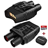 Digital Night Vision Goggles Binoculars for Total Darkness—Infrared Digital Night Vision—Large Viewing Screen, 32GB Memory Card for Photo and Video Storage—Perfect for Observation and Surveillance