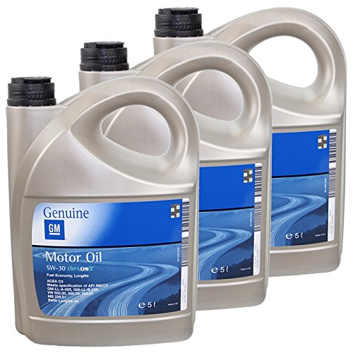 3x 5L 5 Liter ORIGINAL OPEL GM MOTORÖL 5W-30 dexos2 Longlife 5W30 ÖL -...