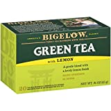 Bigelow Green Tea with Lemon Tea Bags 20-Count Boxes (Pack of 6), 120 Tea Bags Total. Caffeinated Individual Green Tea Bags, for Hot or Iced Tea, Drink Plain or Sweetened with Honey or Sugar
