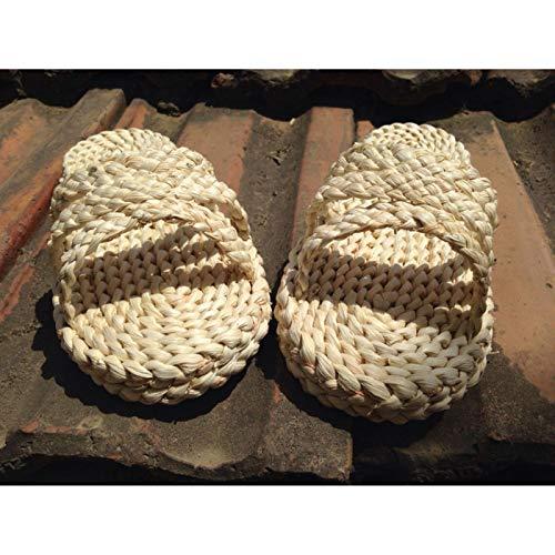 DQS Scarpe Tradizionali Cinesi Giapponesi Fatte a Mano Sandali di Paglia Donna Unisex per Adulti One Piece Rufy Cosplay Pantofole Calzini gratuiti