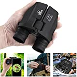 UPSKR 12x25 Compact Binoculars with Low Light Night Vision, Large Eyepiece High Power Waterproof Binocular Easy Focus for Outdoor Hunting, bird watching, Traveling, Sightseeing Fit For adults and kids