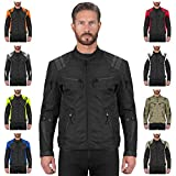 Viking Cycle Ironborn Protective Textile Motorcycle Jacket for Men - Waterproof, Breathable, CE Approved Armor for Bikers (Black, XX-Large)