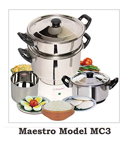 Maestro Electric Steam Cooker,Multipurpose Food Steamer Model MC3 - 600W 230V