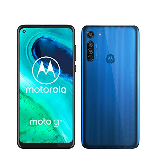 "Motorola Moto G8 - Smartphone de 6,4"" HD+ o-notch, 4G, Qualcomm Snapdragon SD665, Sistema de cámara triple, 64 GB, 4 GB RAM, Android 10 - Color Azul"