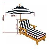 KidKraft 105 Outdoor Lounge Sonnenliege aus Holz mit Sonnenschirm – Gartenmöbel für Kinder - 4