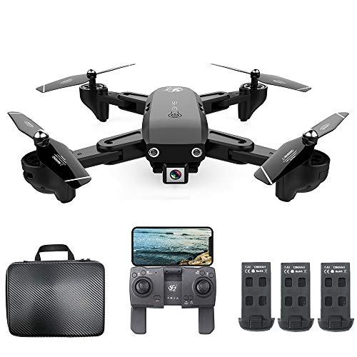Mobiliarbus RC Drone CSJ S166 GPS con Fotocamera 1080P Seguimi Ritorno Automatico a casa WiFi FPV Foto di gesti di Video in Diretta RC Quadcopter per Adulti Principianti con Borsa a 3 batterie