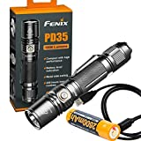 Fenix PD35 V2.0 2018 Upgrade 1000 Lumen Flashlight Built-in USB Rechargeable Battery & LumenTac Charging Cable