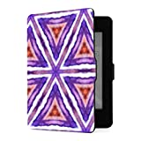 Funda Kindle Paperwhite 1 2 3, Embroidery Traditions Peru Aztecs Maya Geometric PU Funda de Cuero con Smart Auto Wake Sleep para Amazon Kindle Paperwhite (para Las Versiones 2012,2013,2015